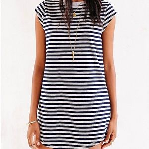 silence + noise striped tshirt dress